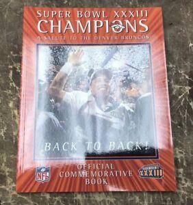 Denver Broncos Back To Back Commemorative Program Book Super Bowl Champs