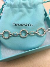 TIffany & Co  CLASPING LINK Charm BRACELET Authentic 8inch Sterling Stamped
