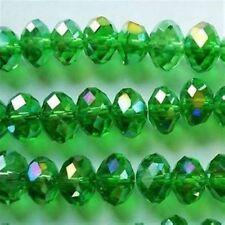 350pcs Green AB Swarovsk Crystal Loose Beads 6X8mm