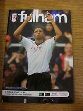 30/10/2010 V Wigan Athletic Fulham. artículo parece estar en buenas condiciones unles