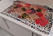 Dolce & Gabbana large silk scarf floral leopard print GENUINE worn twice