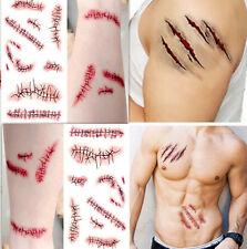 2PC HUA C Wound/Scab/Blood Hallowee Scar Tatoos Temporary Stickers Waterproof