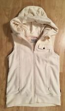 Burton Medium Starr Vest Ivory Cream Zip Up Hood Hoodie Vest