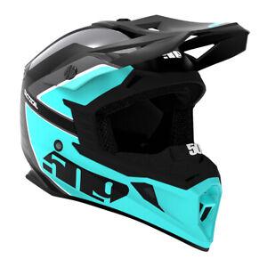 509 Tactical Snowmobile Helmet - Teal Black