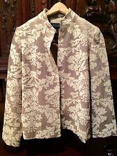 Jones New York Signature Jacket Blazer Floral Tapestry Size 6 Women's
