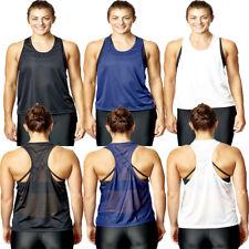 Camiseta para Mujer Top Chaleco de Malla sin Mangas Active Deporte Gimnasio
