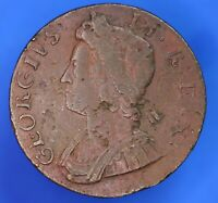 1735 George II KGII Half Penny, ½d coin *[20143]