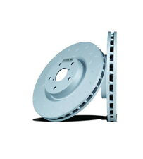 Disc Brake Rotor-Quiet Slot Rotor(TM) Rear Hawk Perf HU467