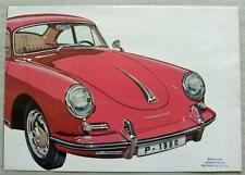 PORSCHE 356B Car Sales Brochure 1960 #W22e 9.59 COUPE Cabriolet HARDTOP Roadster