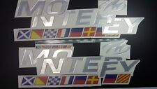"""MONTEREY boat Emblem 46"""" + flags + FREE FAST delivery DHL express"""