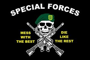 RUMBLING PRIDE SPECIAL FORCES MOTORCYCLE FLAG  6X9 MADE IN USA