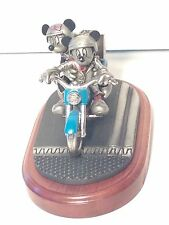 Disney Mickey & Minnie Mouse Chilmark Motorcycle Statue Two Wheeling Highway
