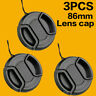 3PCS 86mm Center Snap-on Front Lens Cap Cover for Sony Canon Nikon Pentax DSLR