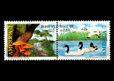 UPAEP '95 Birds, Environment Protection, Mushrooms, Swans, Se-tenant, Mi 2670-71