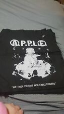 A.P.P.L.E Band Large Back Patch With Pin Anarcho Punk