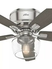 Hunter Bennett Low Profile with Light 52 inch Ceiling Fan  with Remote Control M