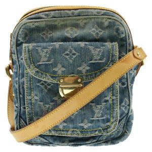 LOUIS VUITTON Monogram Denim Camera Bag Shoulder Bag M95348 Blue LV Auth br004