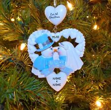 Our First Christmas Wedding Couple's Personalized Christmas Wedding Ornament