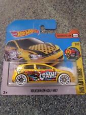 Hot Wheels 2017 #016/365 VOLKSWAGEN GOLF MK7 yellow HW Art Cars New Model 2017