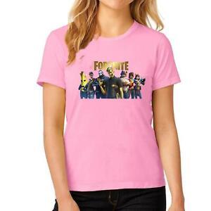 Womens Fortnite Game Print T Shirt Ladies Girls Short Sleeve Cotton Top Tees