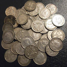 Silver 3d x 50 pre-47; good mix 1920-1942 including two scarce dates; FREE pp