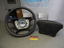 W140 S500 S420 S320 500SEL 300SE LEATHER STEERING WHEEL & AIRBAG CHARCOAL