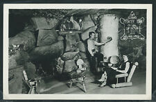 MT Helena RPPC 50's FRONTIER TOWN LOST CABIN on the CONTINENTAL DIVIDE Fireplace