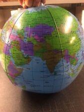 Inflable Globe 30 cm Atlas Mapamundi aprendizaje educativo Tierra