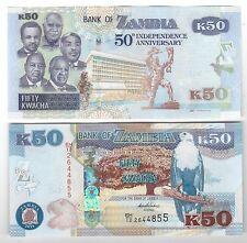 Zambia 50  kwacha 2014     FDS  UNC commemorativa      rif 4106