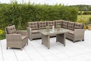 Merxx Salerno Eckbank Dining Set 1 Sessel inkl. Auflagen Gartenlounge
