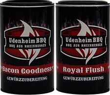 (100gr €3,71) Udenheim Rub Set 2 x 350gr (1x Bacon Goodness, 1x Royal Flush Rub)