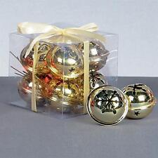 Premier Weihnachtsdekoration 8 Packung Schneeflocke 40mm Jingle Bell Kugeln -