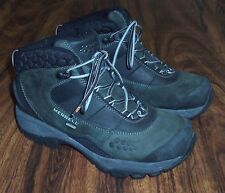 Women's MERRELL Insulated Primaloft Winter ANKLE BOOTS US 7 M Black Active Heat