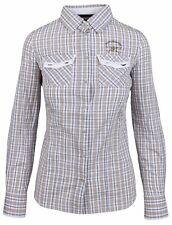 L' ARGENTINA Damen Bluse Women Shirt Größe 38 M Kariert 100% Baumwolle Cotton