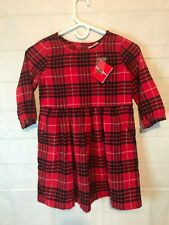 NEW AMAZING~Hanna Andersson Red Plaid Dress Size 8 (120)