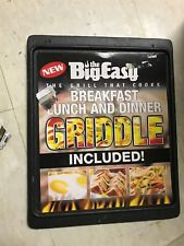 THE BIG EASY GRIDDLE CAST IRON GRILL THAT COOKS BRAND NEW