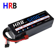 HRB 11.1V 5200mAh 3S LiPo Battery Hardcase 50C-100C Deans for RC Car Truck Model