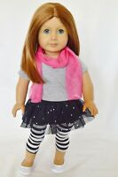"Doll Clothes Fit 18"" Skirt Set Black Glitter Fits American Girl Dolls"