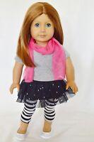 "Doll Clothes Fit 18"" Skirt Set Black Glitter Fits American Girl Dolls"