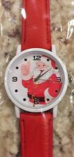 Children's Vintage Girl/Boy Santa Clause Wrist Watch Cute!  Red Band