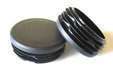 "10 -  2"" Round Tubing Plastic Hole Plug End Cap, 2 Inch 2"" Steel Metal Pipe Post"
