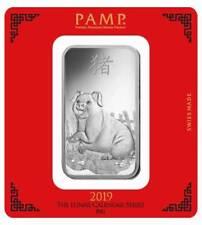 Silberbarren Pamp Suisse 100 g .999 Silber Motiv Lunar Schwein 2019