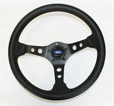 Falcon Thunderbird Galaxie Grant Steering Wheel Black Carbon Fiber look 13 3/4""