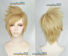FFXV Final Fantasy XV FF15 Prompto Argentum Wig Short Gold Cosplay Wig + Wig Cap