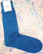 Duchamp London Men's Italian Cotton Socks Plain Melange Large UK 9-11 Turquoise