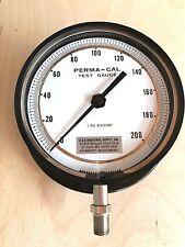 Perma-Cal Test Gauge 101RIM06A21 / 1 PSI Divisions / 0-200 Psi / Black