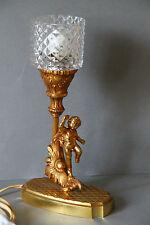 zauberhafte Tischlampe Lampe Messing Putte Putto
