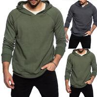 ❤️ Men's Hooded Hoodie Sweatshirt Jacket Casual Gym Sports Tops Pullover Jumper