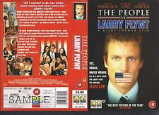 The People Vs Larry Flynt, Woody Harrelson Video Promo Sample Sleeve/Cover#9802