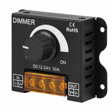 PWM 0%-100% Dimmer Knob ON/OFF Controller DC 12V-24V 30A for LED Strip Light